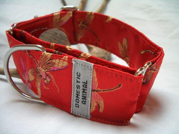 Martingale-Halsband Einfachlzug LIBELLE rot
